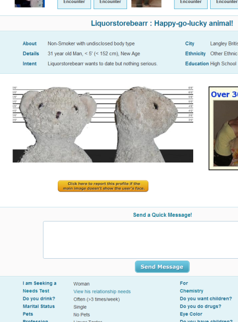 Plenty of fish liquorstore bear for Plenty of fish profile search
