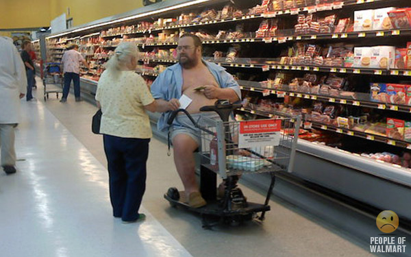 obese people in wal mart scooters am i the only one who looks at