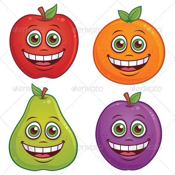 fruits images cartoon