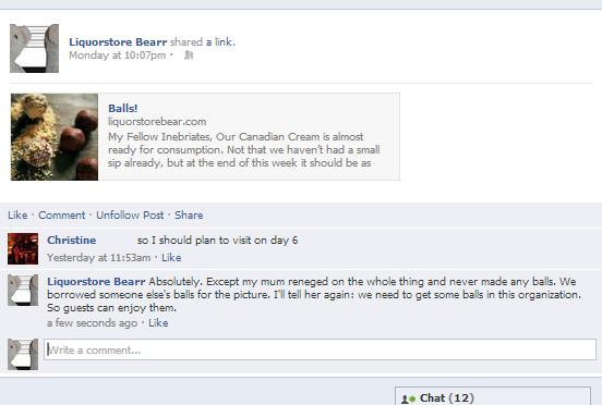 Balls facebook discussion