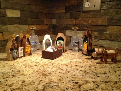 I have no idea where this Liquor Nativity came from. Someone posted the pic to my Facebook wall. Anyone who wants to take credit, maybe you can talk to Teena (and she can sell you some advertising).