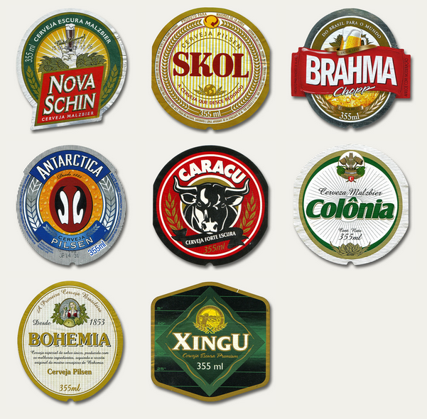 Latin American beer labels