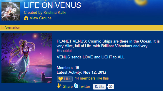 What? Lots of people think there's life on Venus...