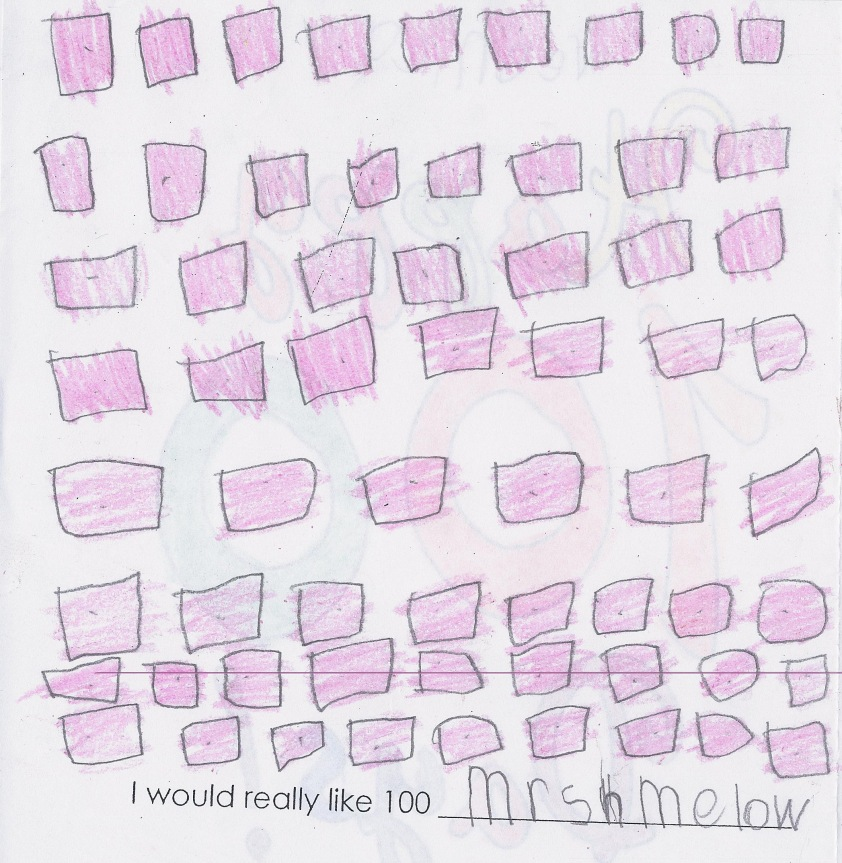 V loves marshmallows...