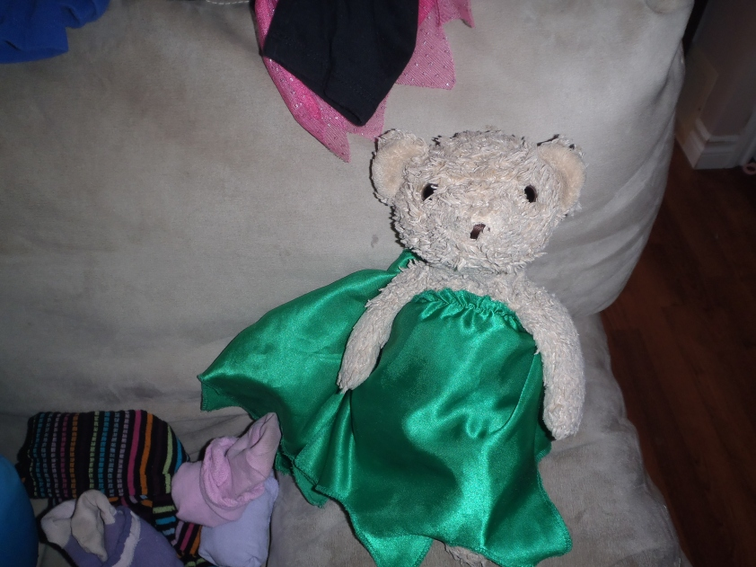 I'd like to thank the Academy, which I hope will note the tasteful way P's kelly-green gown covers my six nipples.