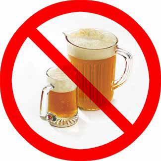 alcohol-free food