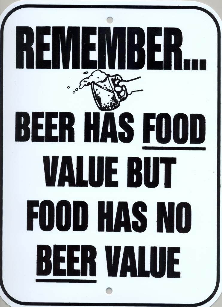 beer food value