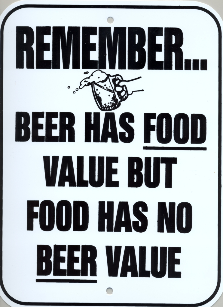 beer food value