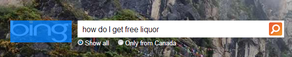 bing free liquor