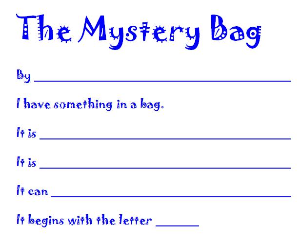 mystery bag blank