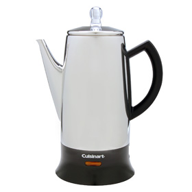 And when the Cuisinart percolator perked our coffee in something like ten seconds, essentially defeating the purpose of percolation.