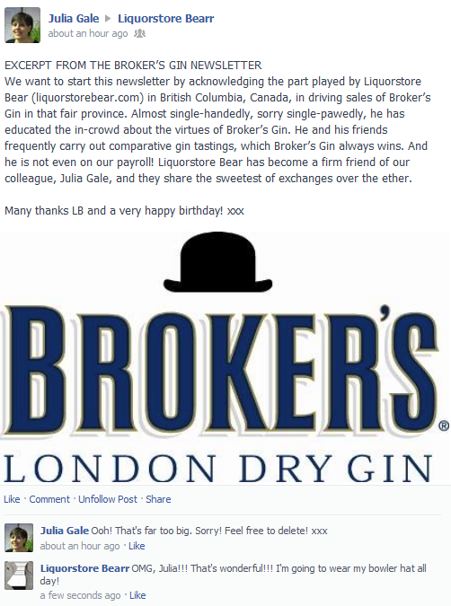 happy bday from Broker's Gin2