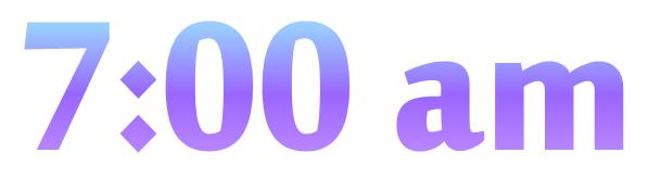 700 am