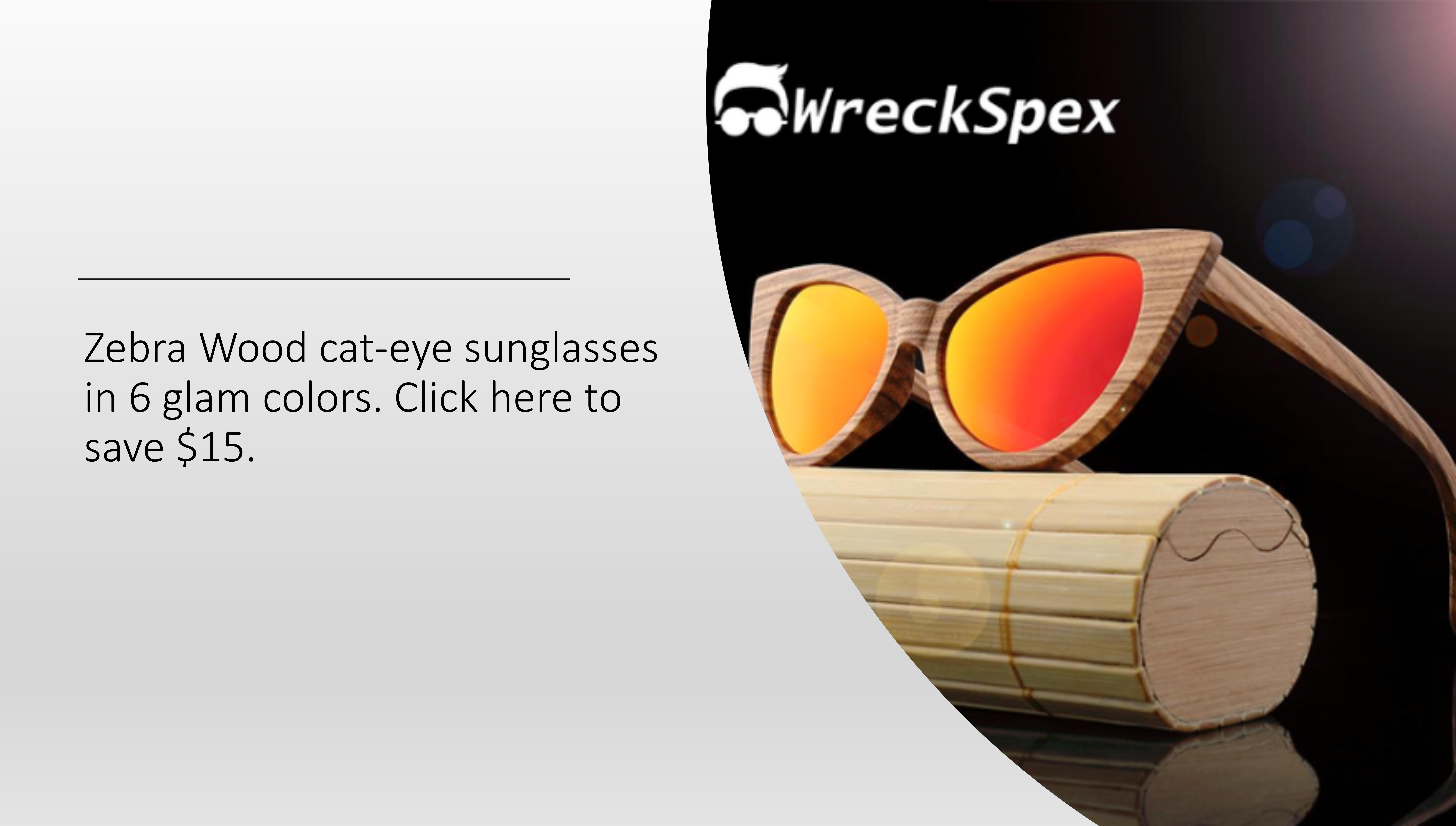 WreckSpex Zebra wood