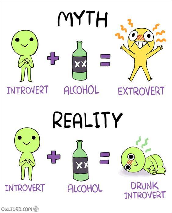 Introverts and alcohol