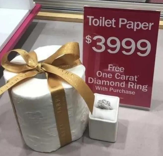 Toilet paper meme Mar 12, 2020